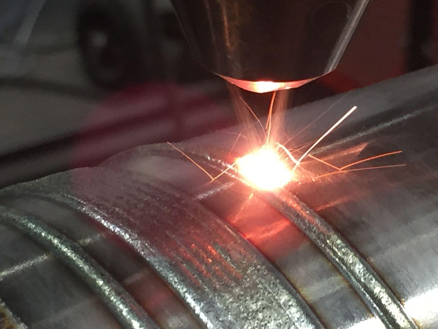 Lasercladden laser cladden lasercladden cladlaag